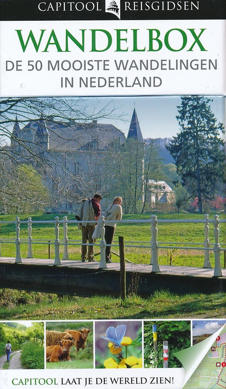 Wandelgids Capitool wandelbox 50 mooiste wandelingen in Nederland   Unieboek   Capitool