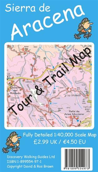 Wandelkaart Sierra de Aracena Tour and Trail Map   Discovery Walking