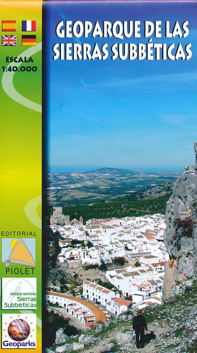 Wandelkaart Geoparque de las Seirras Subbeticas   Editorial Piolet