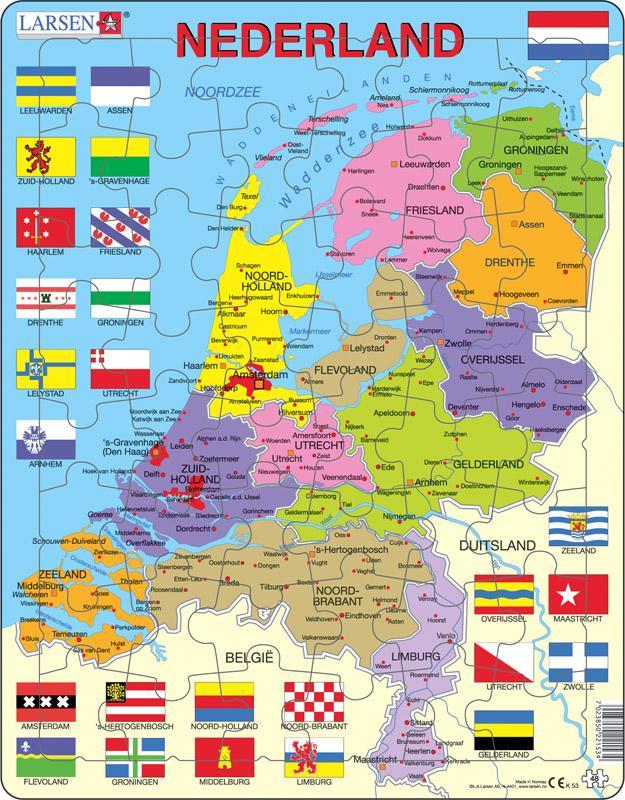 Topo puzzel Nederland staatkundig   Larsen