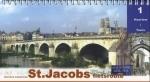 Fietsgids St. Jacobsfietsroute, deel 1 Haarlem - Tours (Santiago de Compostela - Sint Jacobsroute)   Pirola