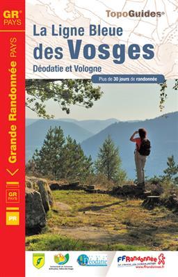 Wandelgids ref 880 La Ligne Bleue des Vosges   FFRP