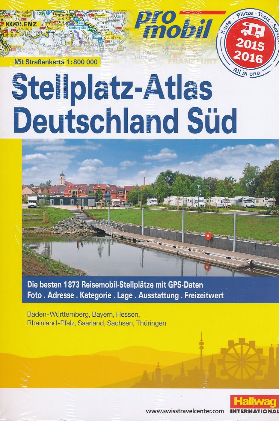 Campergids Duitsland Zuid - Deutschland Sud Stellplatz-Atlas 2015   ProMobil