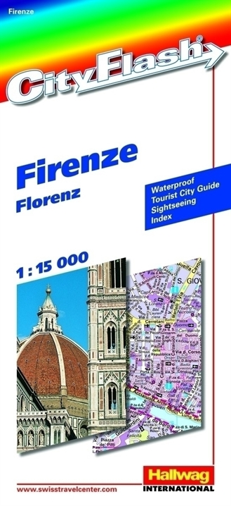 Stadsplattegrond Florence city flash   Hallwag