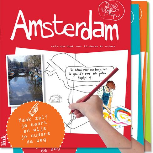 Kinderreisgids DrawYourMap Amsterdam  Link