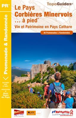 Wandelgids P116 Pays Corbières Minerovois à pied 30PR en pays cathare   FFRP