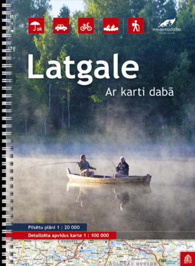 Wegenatlas Letland oost - Latgale  Jana Seta