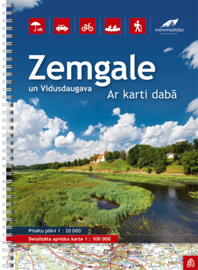Wegenatlas Letland zuid Zemgale - Vidusdaugava    Jana Seta