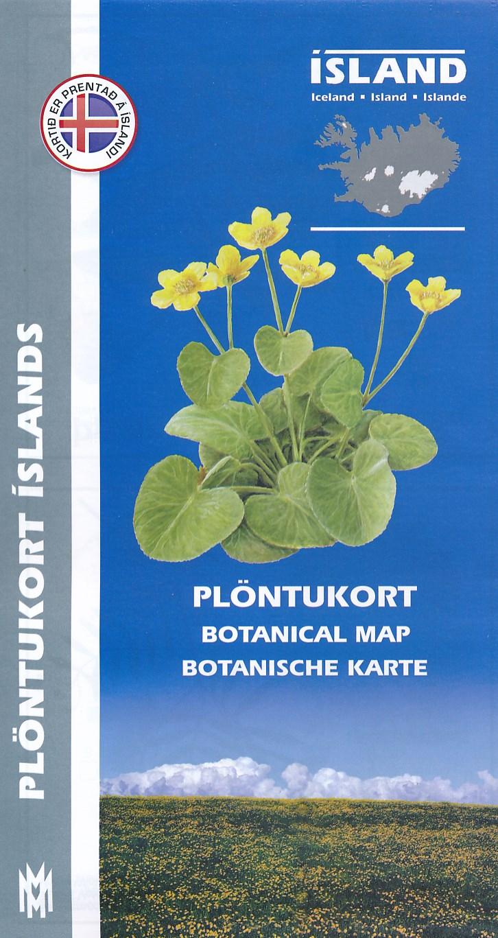 Natuurgids Botanical map - Botanische kaart Ijsland   Mal og Menning