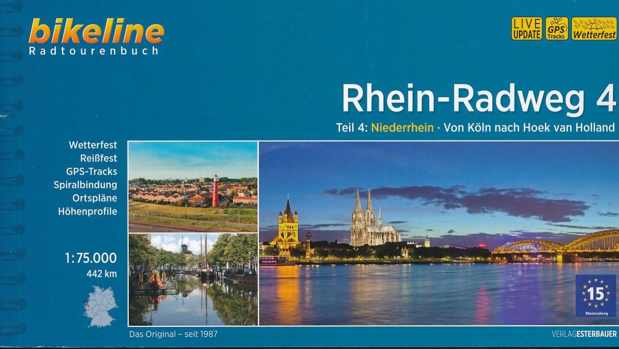 Fietsgids Rhein radweg 4   Bikeline Esterbauer