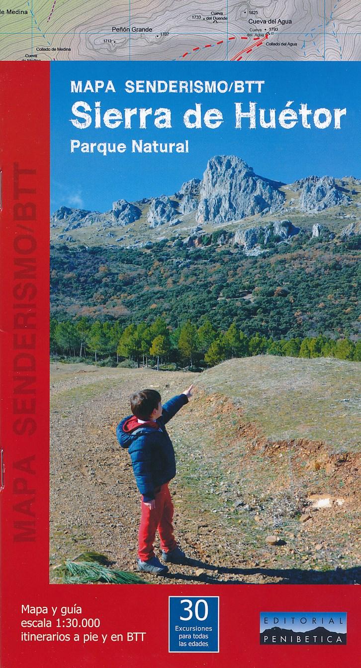 Wandelkaart MTB Sierra de Huetor   Editorial Penibetica