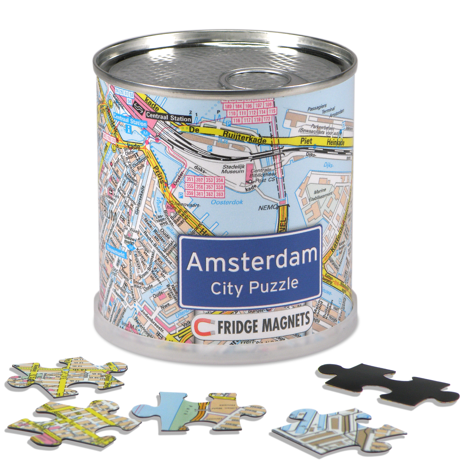 Puzzel City Puzzle Magnets Amsterdam   Extragoods
