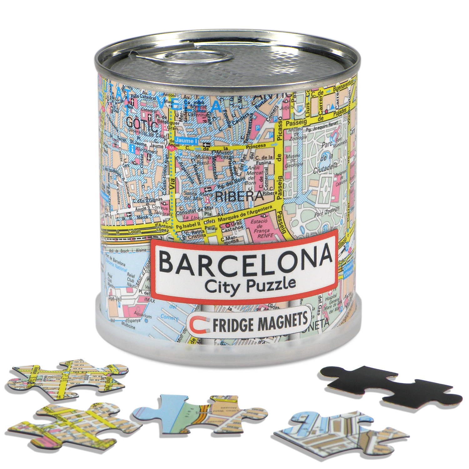 Puzzel City Puzzle Magnets Barcelona   Extragoods