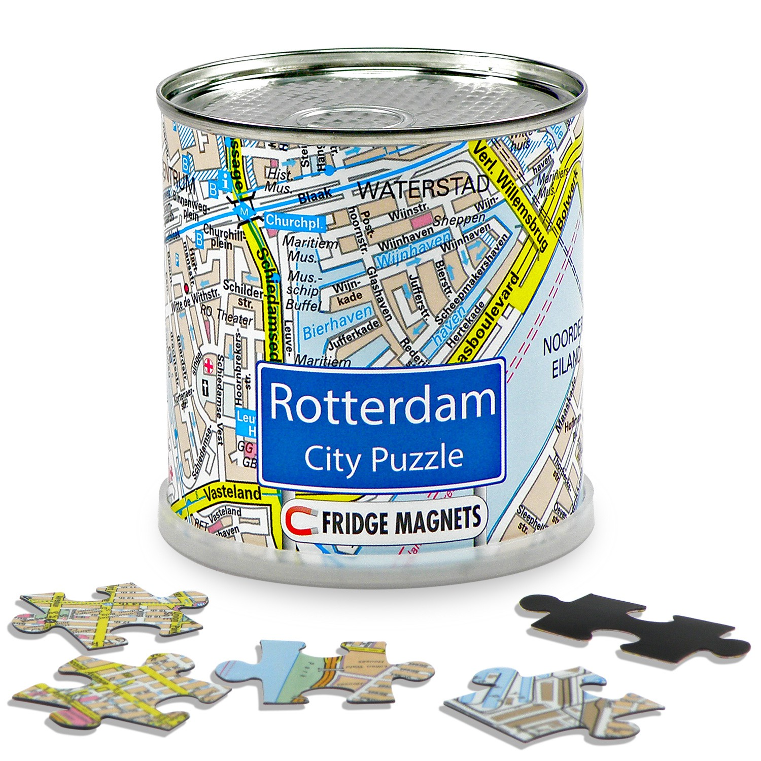 Puzzel City Puzzle Magnets Rotterdam   Extragoods