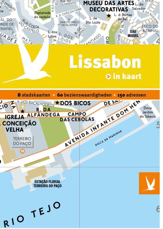 Reisgids + plattegrond Lissabon in kaart   Dominicus Gottmer