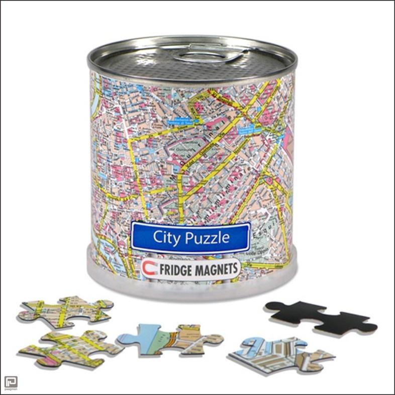 Puzzel Leeuwarden - City Puzzle magneetpuzzel   Extragoods