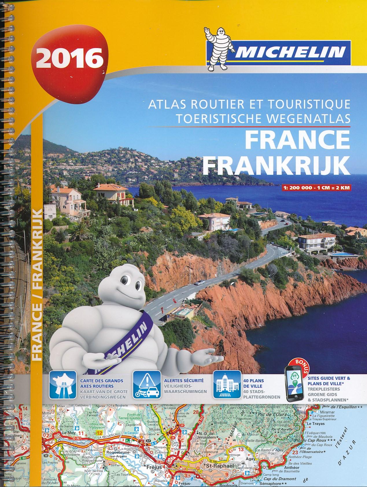 Wegenatlas Frankrijk 2016   Michelin