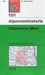 Alpenvereinskarte 10/1 Steinernes Meer - wandelkaart Oostenrijk