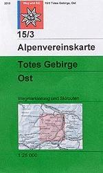 Alpenvereinskarte 15/3 Totes Gebirge, östl. Blatt - wandelkaart Oostenrijk