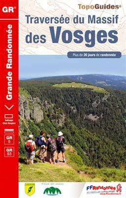 Wandelgids ref 502 GR5 - GR53 Traversée du Massif des Vosges - Vogezen   FFRP
