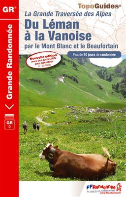 Wandelgids GR5 Du Léman à la Vanoise Ref 504   FFRP