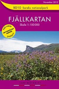 Wandelkaart BD10 Sareks Nationalpark Fjällkartan Topografische kaart Zweden   Lantmateriet
