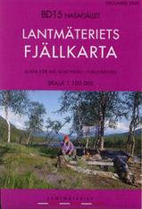Wandelkaart BD15 Nasafjället Fjällkarta Topografische kaart Zweden   Lantmateriet