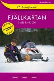 Wandelkaart Z5 Åkersjön - Kall Fjällkarta Topografische kaart Zweden   Lantmateriet
