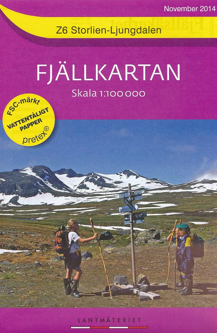 Wandelkaart Z6 Storlien - Ljungdalen Fjällkarta Topografische kaart Zweden   Lantmateriet