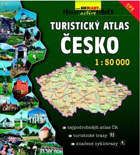 Wegenatlas Turisticky Atlas Cesko - Topografische atlas met wandelkaarten Tsjechië   Shocart