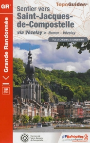 Wandelgids GR 654 Namen - Vezelay (Santiago de Compostela - Sint Jacobsroute)   FFRP