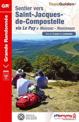 Wandelgids ref 653 - GR 65 Moissac - Roncevaux (Santiago de Compostela - Sint Jacobsroute)   FFRP Grande Randonnee