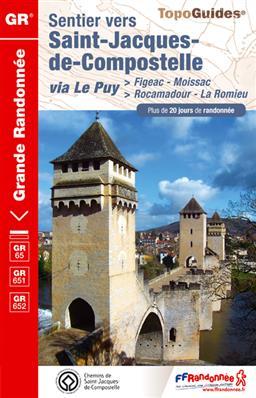 Wandelgids ref 652 - GR 65 Figeac - Moissac  (Santiago de Compostela - Sint Jacobsroute)   FFRP