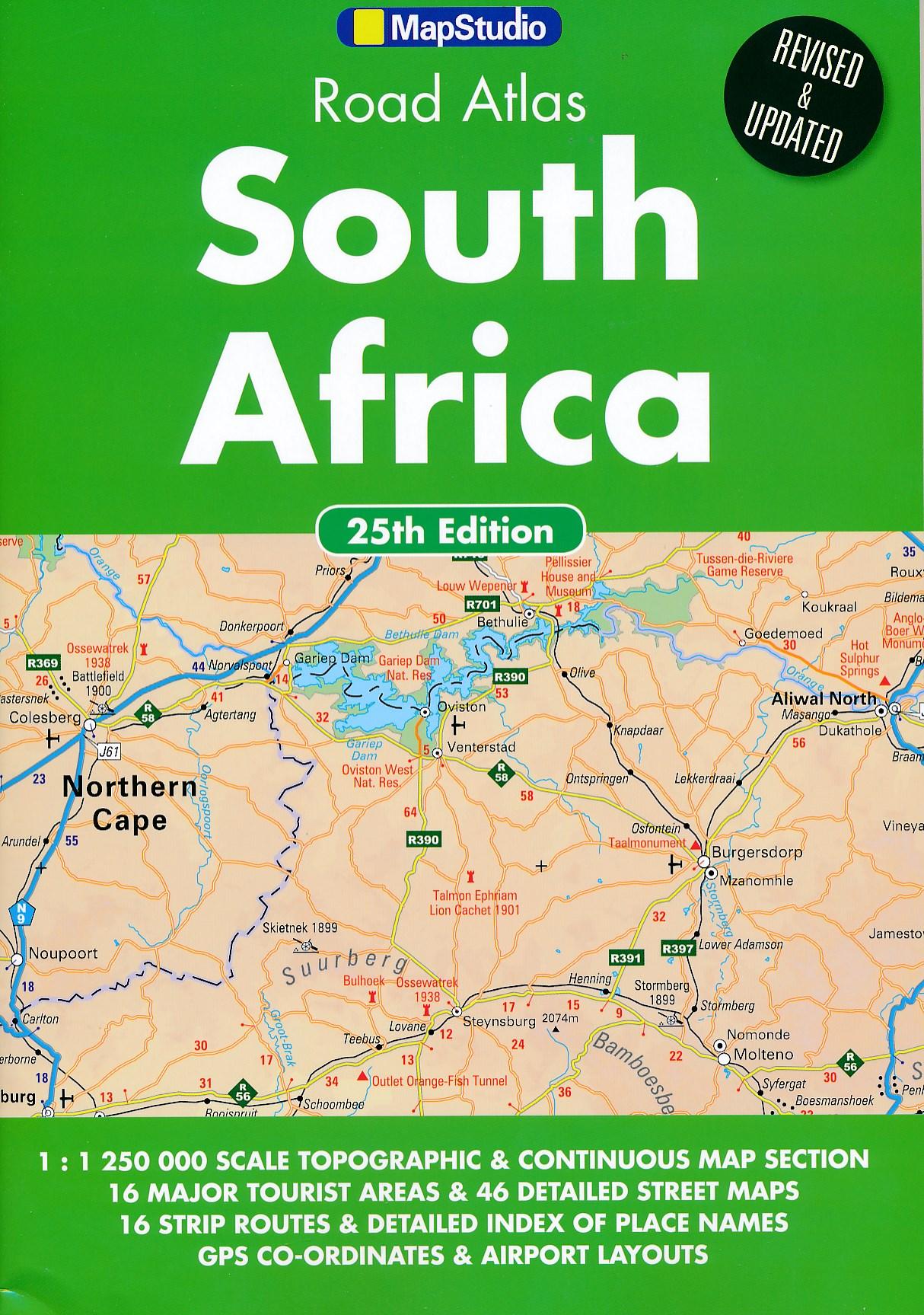 Wegenatlas South Africa - Zuid-Afrika 2015   Map Studio