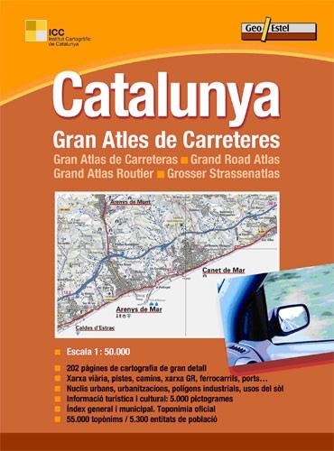 Wegenatlas Topografische atlas Catalunya - Catalonië   Geo Estel
