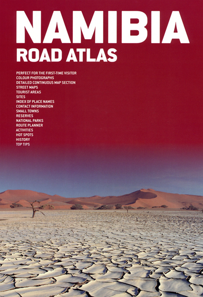 Wegenatlas Namibia Road Atlas - Namibië   Mapstudio