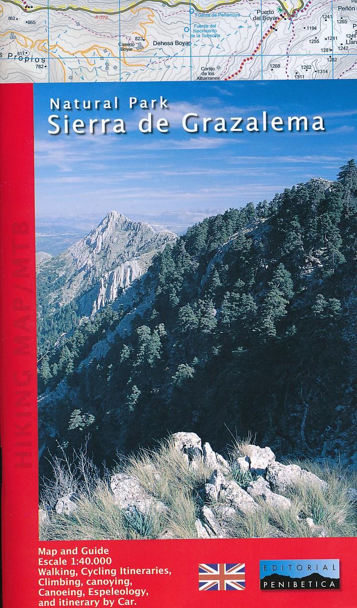 Wandelkaart - wandelgids Sierra de Grazalema   Editorial Penibetica