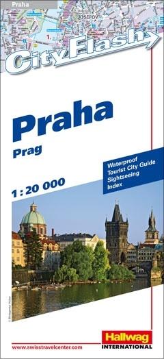 Stadsplattegrond Praha - Praag   Hallwag Cityflash