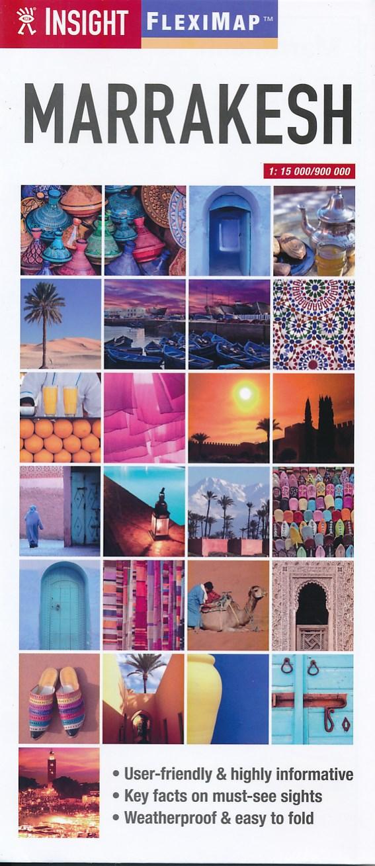 Stadsplattegrond - landkaart FlexiMap Marrakech   Insight Guides