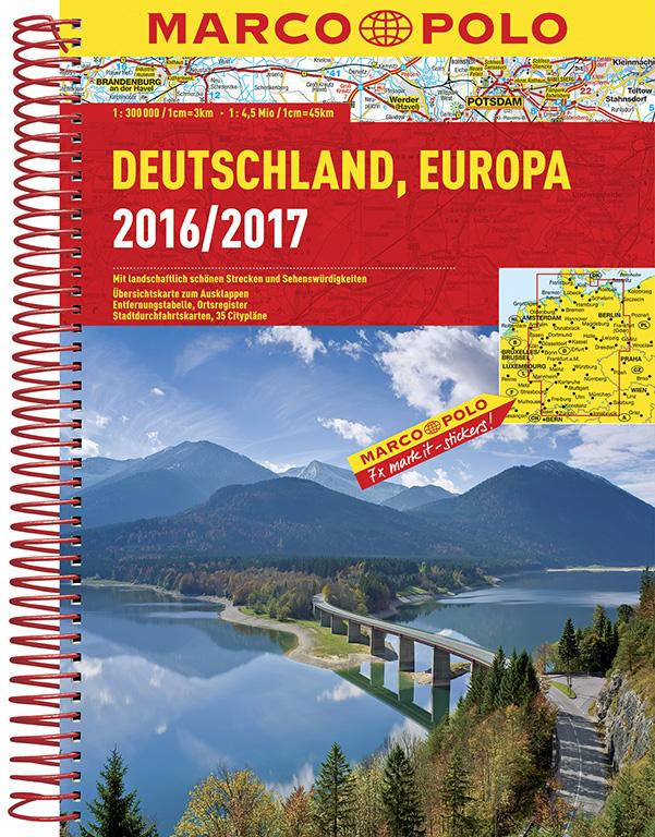 Wegenatlas Duitsland Deutschland 2016 - 2017    Marco Polo