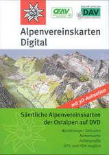 Digitale kaart Alpenvereinskarten Oostenrijk Digital DVD - GPS Routeplanner  Alpenverein