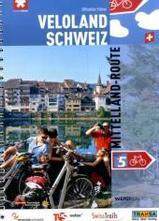 Fietsgids Mittelland Route 5 - Veloland Schweiz   Werd Verlag