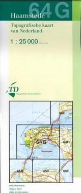Topografische kaart - wandelkaart 64G Haamstede