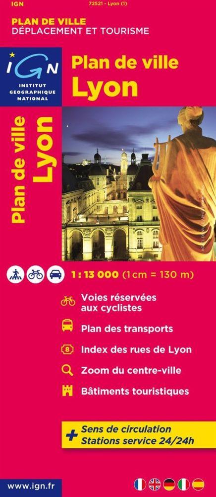 Stadsplattegrond Lyon   IGN
