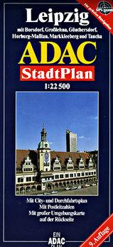Plattegrond - Stadsplattegrond Leipzig   ADAC