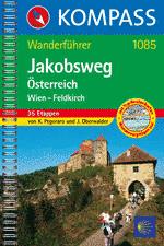 Wandelgids Jakobswege Oostenrijk (Wien/ Wenen - Feldkirch) Sint Jacobs route   Kompass 1085
