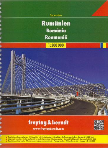 Wegenatlas Roemenië Superatlas   Freytag Berndt