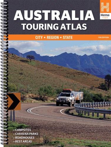 Wegenatlas Australië -Touring Atlas Australia (ringband)   Hema maps