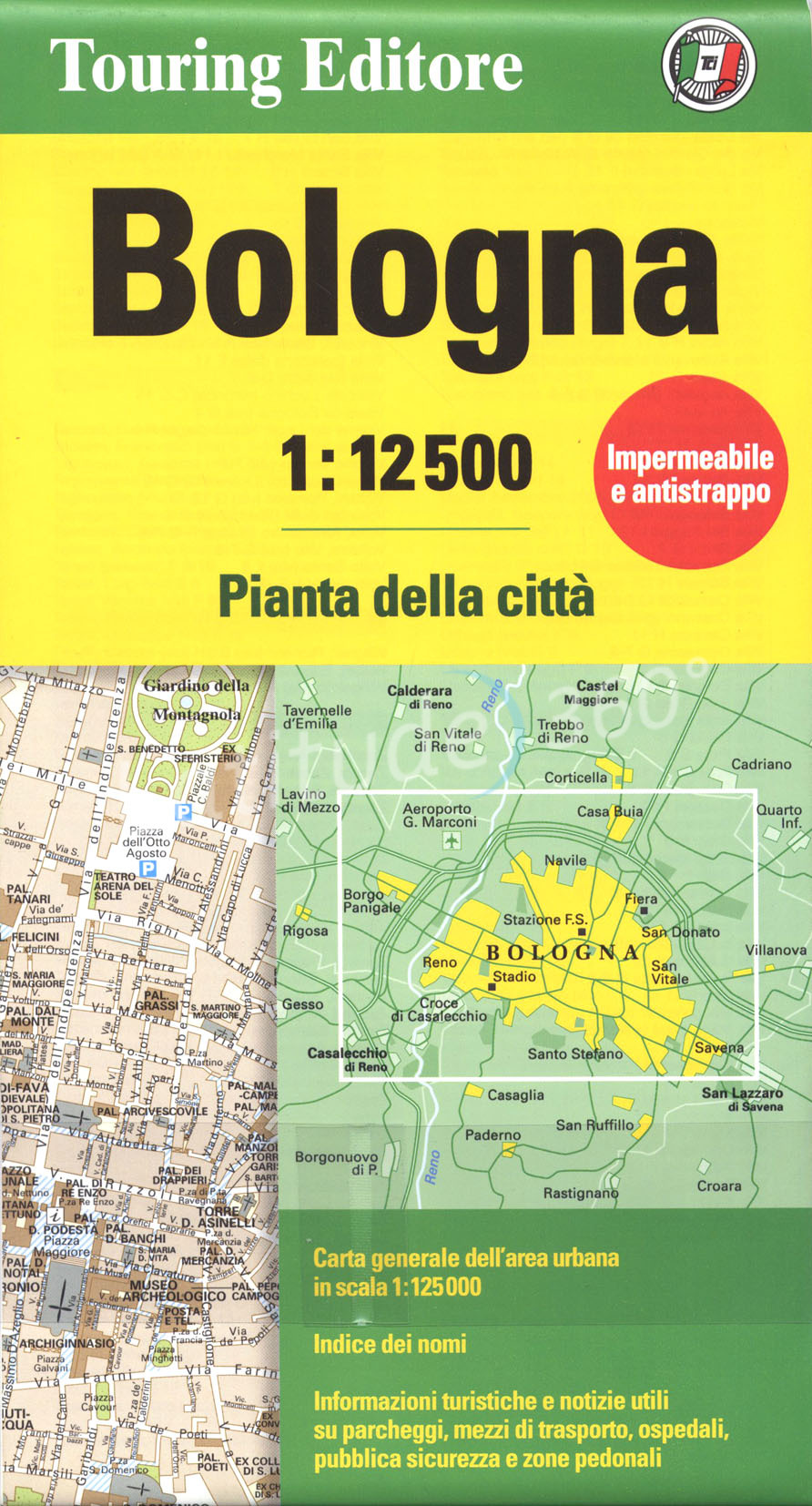 Plattegrond  - Stadsplattegrond Bologna   Touring Club Italiano