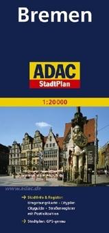 Plattegrond  - Stadsplattegrond Bremen   Adac